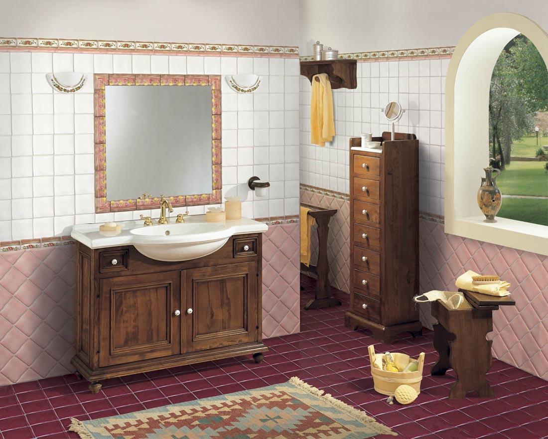 Piastrelle ceramica arredo urbano restauro classico bagni - Mobili per bagni classici ...